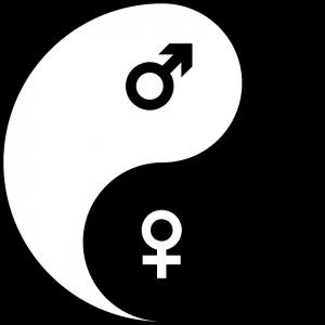 Yin und Yang sind weiblich und männlich.