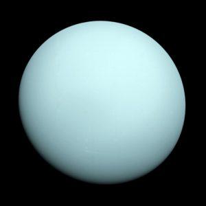 Der Uranus ist größtenteils gasförmig.