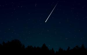 Sternschnuppen sollen wünsche erfüllen.