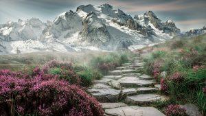 Für andere ist ein Urlaub im Gebirge mit schöne Landschaft (auf Englisch mountains and landscape) genau das Richtige.